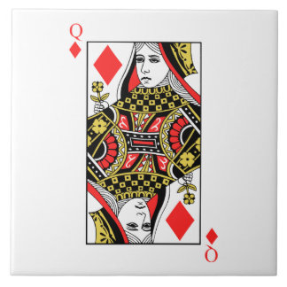 Reina de diamantes azulejo