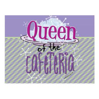 Reina de la cafetería - señora del almuerzo postal