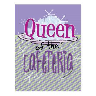 Reina de la cafetería - señora del almuerzo tarjeta postal
