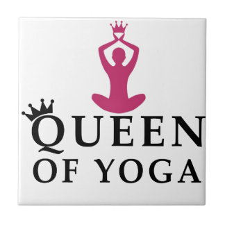 reina de la corona de la yoga azulejo