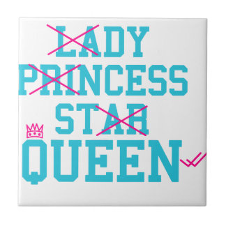Reina de la estrella de la princesa de la señora azulejo