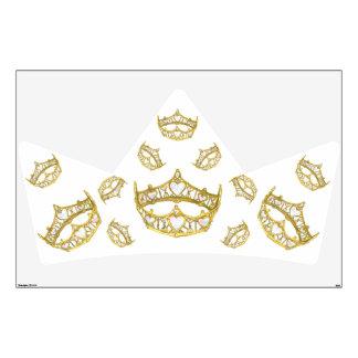 Reina de la etiqueta de la pared de la corona de l