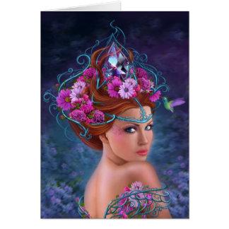 Reina de la flor de la tarjeta