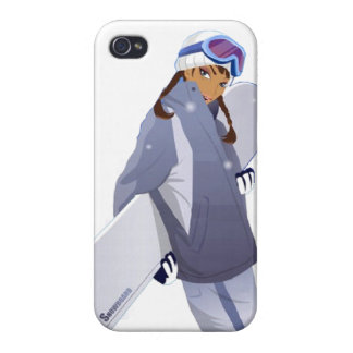 Reina de la snowboard - caso del iPhone 4 iPhone 4 Carcasas