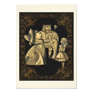 Reina de la tarjeta de la invitación del país de
