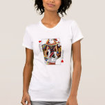 Reina de la tarjeta del póker + Rey de las Camiseta