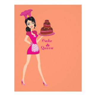 Reina de la torta folleto 21,6 x 28 cm