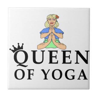 reina de la yoga azulejo de cerámica