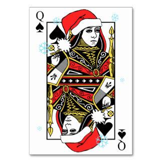 Reina de las Felices Navidad de espadas