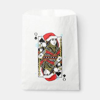 Reina de las Felices Navidad de espadas Bolsa De Papel