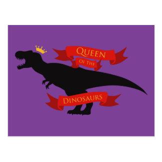 Reina de los dinosaurios postal