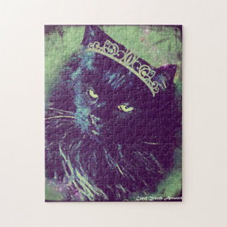 Reina de los gatos noruegos del bosque puzzle