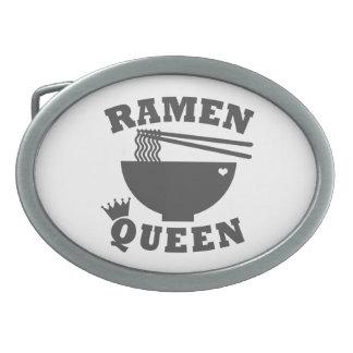 Reina de los Ramen Hebillas De Cinturon Ovales