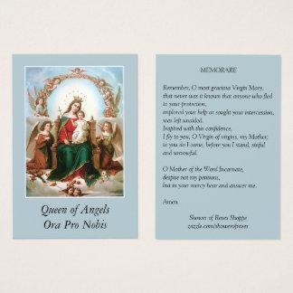 Reina de Maria de las tarjetas santas del rezo de