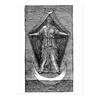 Reina de revelación del cielo postal