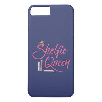 Reina de Shelfie del aficionado a los libros azul Funda Para iPhone 8 Plus/7 Plus