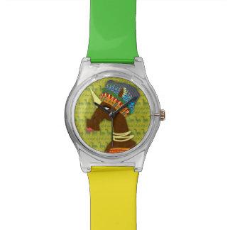 Reina del africano del unicornio reloj de pulsera