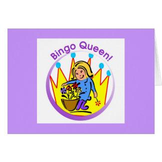 Reina del bingo - mensaje abierto tarjeta de felicitación