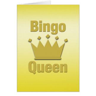 Reina del bingo tarjeta de felicitación