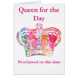 Reina del cumpleaños tarjeta de felicitación