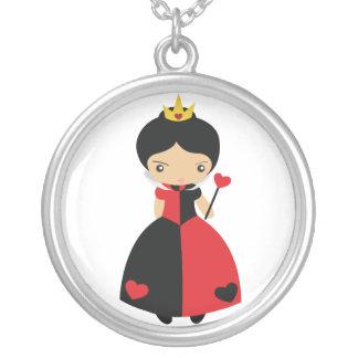 Reina del KRW del collar de plata de los corazones