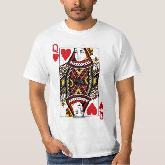 Reina del naipe de los corazones camiseta