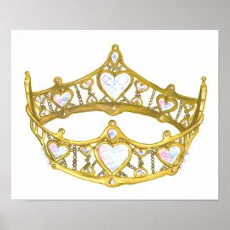 Reina del poster de la tiara de la corona de los c