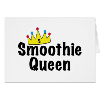 Reina del Smoothie Tarjeta De Felicitación
