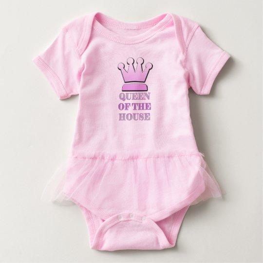 Reina del tutú del bebé de la casa body para bebé