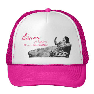 Reina del vintage del gorra de las intenciones