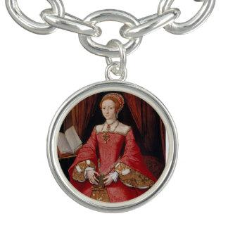 Reina Elizabeth I del pulsera con dije de