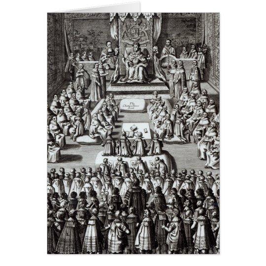 Reina Elizabeth I y el parlamento Tarjeta De Felicitación