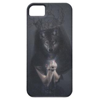 Reina grande del mal de la mujer del lobo de funda para iPhone SE/5/5s