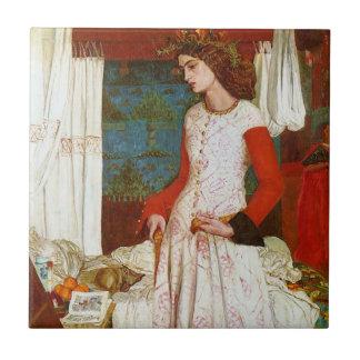 Reina Guenevere, William Morris de Iseult el   de Azulejo