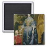 Reina Henrietta Maria y su enano Imán De Frigorífico