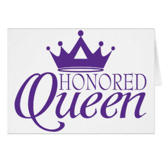 Reina honrada tarjeta de felicitación