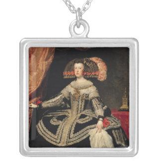 Reina Maria Ana de Austria, 1652 Colgante Cuadrado