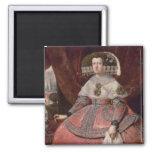 Reina Maria Ana de España en un vestido rojo Imanes Para Frigoríficos