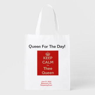 ¡Reina para el día! Bolso reutilizable y plegable Bolsa Para La Compra