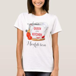 Reina personalizada de la camiseta del gastrónomo