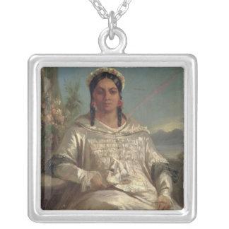 Reina Pomare IV de Tahití Colgante Cuadrado