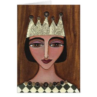 Reina real - tarjeta de felicitación (3)