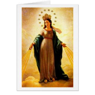 Reina santa del saludo tarjeta pequeña