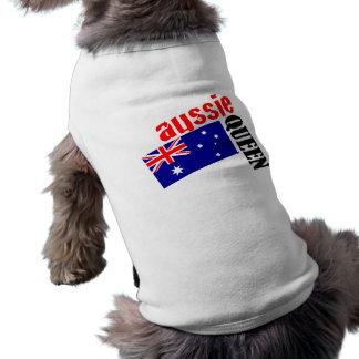 Reina y bandera australianas
