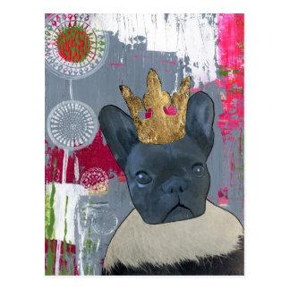 Reina Zoey el dogo francés Postal