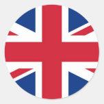 - Reino Unido - bandera británica de Gran Bretaña  Pegatina Redonda