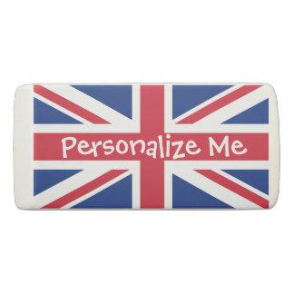 Reino Unido británico Union Jack personalizado Goma De Borrar