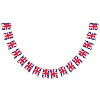 Reino Unido Británicos Union Jack Banderines