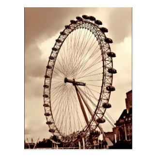 (Reino Unido) Postal del ojo de Londres del vintag