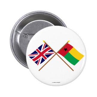 Reino Unido y banderas cruzadas Guinea-Bissau Pins